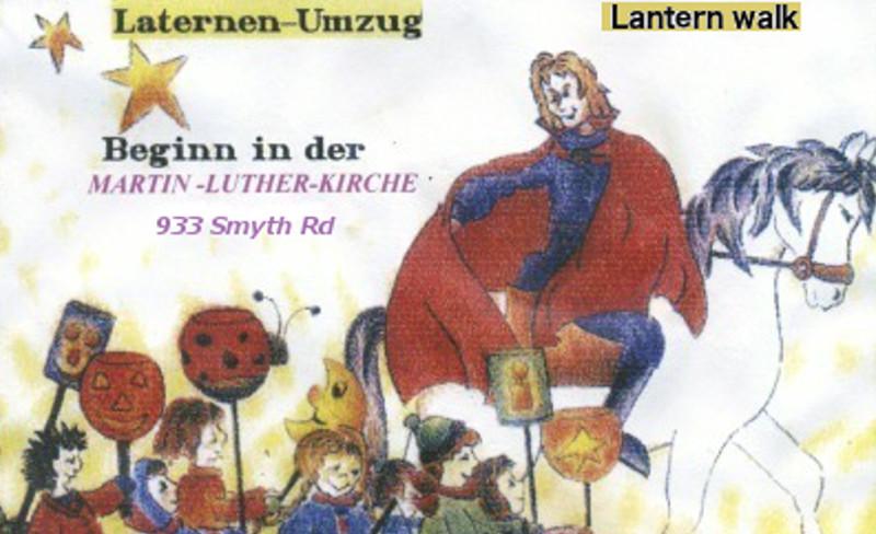 St. Martinstag Mit Laternenumzug